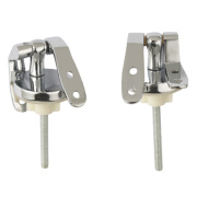 Wooden Toilet Seat Hinges Chrome Pack of 2