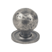 Fingertip Design Traditional Door Knob Hammered Pewter Effect 32mm