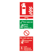 Water Extinguisher ID Sign 280 x 90mm