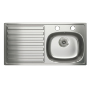 Carron Phoenix Kitchen Sink S/Steel 1 Bowl & Left Hand Drainer 940 x 180mm