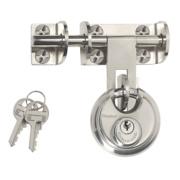 Master Lock Hasp & Staple with Disc Padlock 120mm