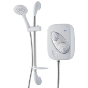Triton Thermostatic Power Shower Flexible White & Chrome