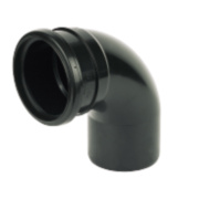 92.5° (87.5°) Bend Single Socket Black SP161