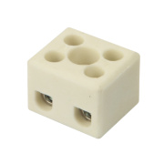 Hylec Double Pole 24A Steatite Ceramic Terminal Blocks Pack of 5