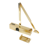 Briton 2003V Overhead Door Closer Polished Brass