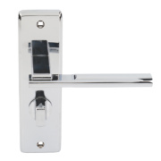Jedo Delta WC Door Handle Pair Polished Chrome