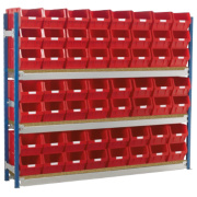 Toprax Longspan Starter Bay Red 1812 x 328 x 1500mm