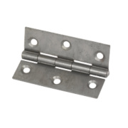 Steel Fixed Pin Hinges Self-Colour 65 x 44mm Pack of 2