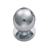 Fingertip Design Solid Round Knob Polished Chrome 30mm