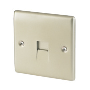British General 1-Gang Slave Telephone Socket Pearl Nickel