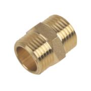 Brass Hexagon Nipple ½
