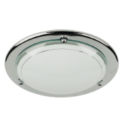 Half 21290 Circular Ceiling Light Chrome 60W