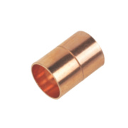 Straight Coupler End Feed 15mm Pack of 2