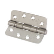 Eclipse Ball Bearing Fire Hinge Radius Corners Sat. SS 102x76 Pk3