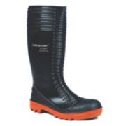 Dunlop. Acifort A252931 Ribbed Safety Wellingtons Black Size 9