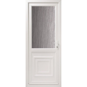 2xG Double-Glazed Back Door Translucent Glass LH uPVC 840 x 2085mm