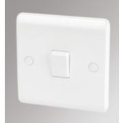 LAP 1-Gang 1-Way 10AX Light Switch White