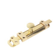 Heavy Duty Door Bolt Polished Brass 150mm