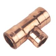 Conex Cuprofit Push-Fit Reducing Tee 28 x 28 x 22mm