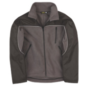Site Fleece Jacket Black Grey Large
