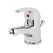 Swirl Single Lever Mini Bathroom Basin Mixer Tap Chrome