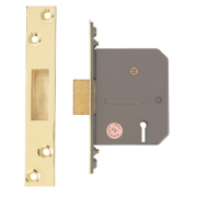 Eclipse 5-Lever Mortice Deadlock Polished Brass 2