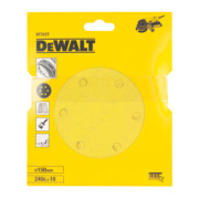 DeWalt 150mm 240 Grit Sanding Disc Punched Pack of 10