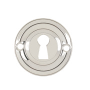 Carlisle Brass Standard Key Standard Key Escutcheon Polished Chrome 42mm