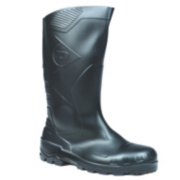 Dunlop. Devon H142011 Safety Wellington Boots Black Size 6
