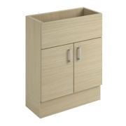 600mm Vanity Slab Wall Unit Oak Oak