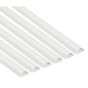 D-Line Mini Trunking White 30 x 15mm x 2m Pack of 6