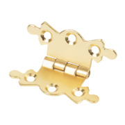 Butterfly Hinges Electro Brass 36 x 42mm Pack of 2