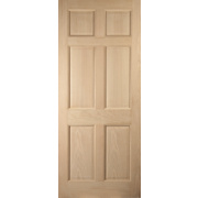 Jeld-Wen Colonial 6-Panel Exterior Door Oak Veneer 813 x 2032mm