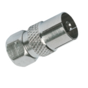 Labgear F Plug To Coax Socket Pack of 10