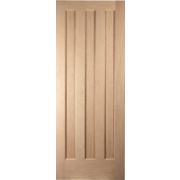 Jeld-Wen Aston 3-Panel Interior Door Oak Veneer 762 x 1981mm