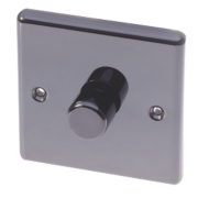 LAP 1-Gang 2-Way Push Dimmer Switch 400W Black Nickel