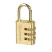 Master Lock Aluminium Combination Padlock Brass-Plated 30mm