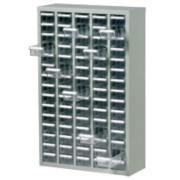 Steel Drawer Cabinet with 75 Bin Trays 586 x 222 x 937mm Grey