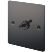 LAP 1-Gang 2-Way 10AX Toggle Switch Black Nickel