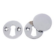 Victorian Escutcheon Set Polished Chrome 38mm