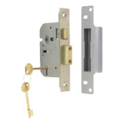 ERA 5-Lever Mortice Sashlock Satin Nickel