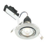 LAP Adjustable Round Mains Voltage Downlight Polished Chrome 240V