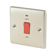 British General 45A DP Cooker Switch with Neon Pearl Nickel