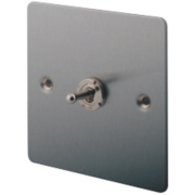 LAP 1-Gang 2-Way 10AX Toggle Switch Brushed Stainless Steel
