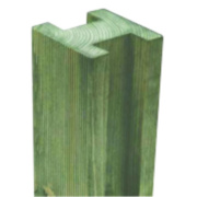 Forest Reeded Fence Posts 95 x 95mm x 2.4m Pack of 4