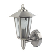 60W Stainless Steel Coach Lantern Wall Light