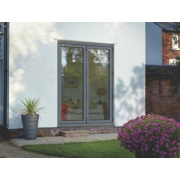 Unbranded Bi-Fold Double-Glazed Patio Door Grey Aluminium 1794 x 2094mm