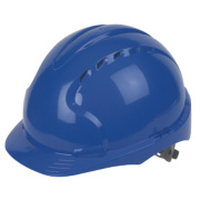 JSP EVO3 Comfort Plus Adjustable Slip Vented Safety Helmet Blue