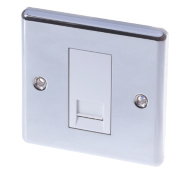 LAP 1-Gang Master Telephone Socket Polished Chrome