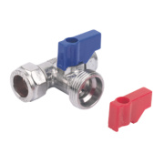 Pegler Prestex 809T Washing Machine Valve Tee 15mm x 15mm x ¾